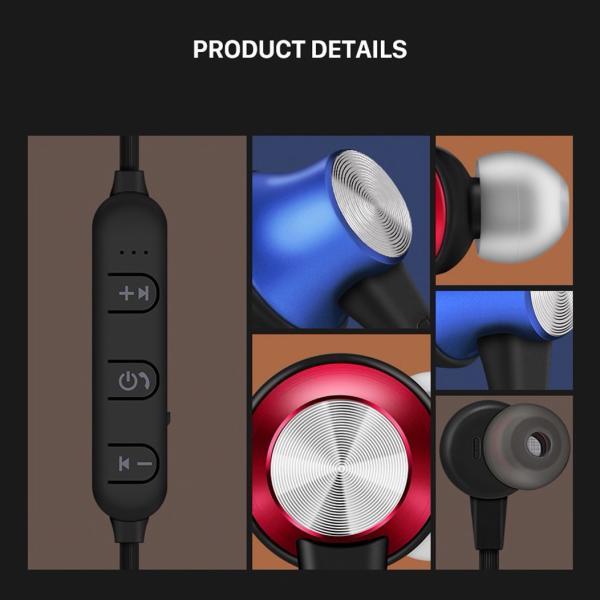 Bluetooth ワイヤレスイヤホン スポーツイヤホン ハンズフリー ワイヤレス イヤホン ランニング  Bluetooth アウトレット ボロフォン BOROFONE borofone-be11|gochumon|12