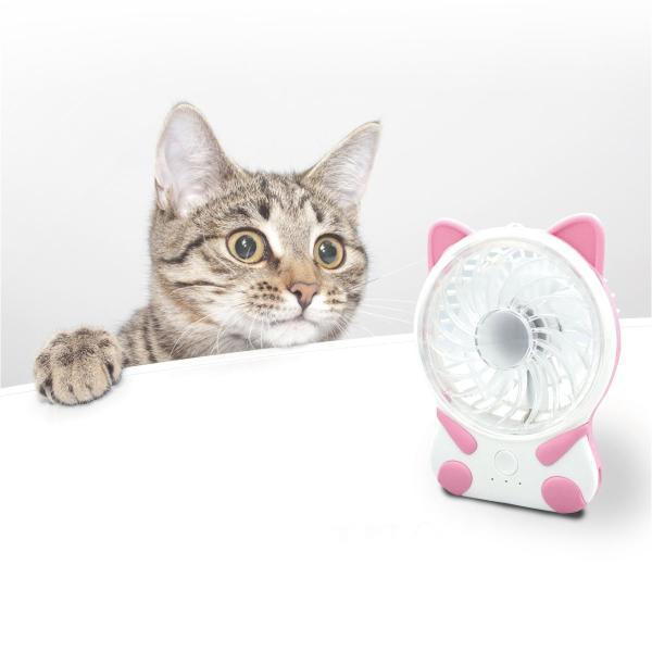 携帯 扇風機 小型 ミニ ハンディ 卓上扇風機 usb クリップ 手持ち扇風機 卓上 ハンディファン 手持ち猫 ねこ ネコ fan-03|gochumon|10