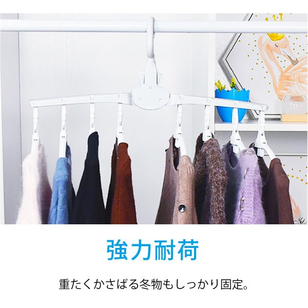 ワンタッチハンガー 8連 ハンガー ワンタッチ 便利グッズ 便利 物干しハンガー 8連ハンガー ハンガーラック 洗濯 スリム 収納 ワイシャツ Tシャツ hanger-8ren gochumon 11