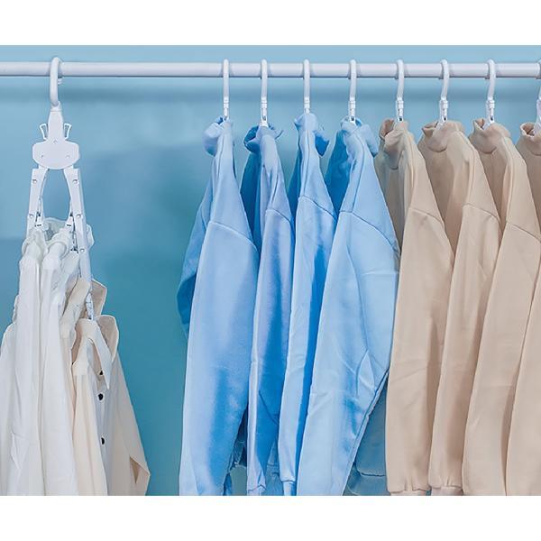 ワンタッチハンガー 8連 ハンガー ワンタッチ 便利グッズ 便利 物干しハンガー 8連ハンガー ハンガーラック 洗濯 スリム 収納 ワイシャツ Tシャツ hanger-8ren gochumon 16