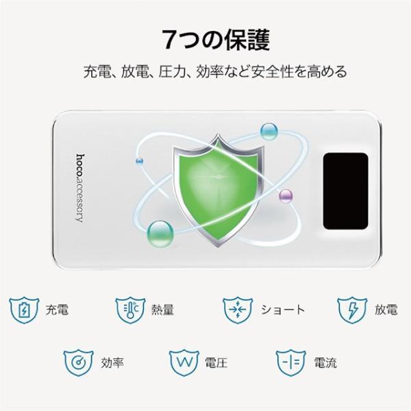 モバイルバッテリー 10000mAh 大容量 軽量 iPhone8 plus iPhone android スマホ 充電器 モバイル バッテリー hoco hoco-bt01|gochumon|15