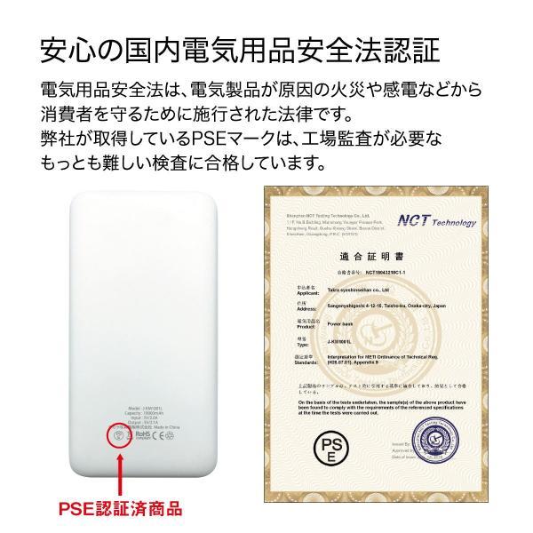 モバイルバッテリー 10000mAh 大容量 軽量 液晶残量表示付 iPhoneXS iPhone android スマートフォン モバイル バッテリー jiang-bt03|gochumon|21