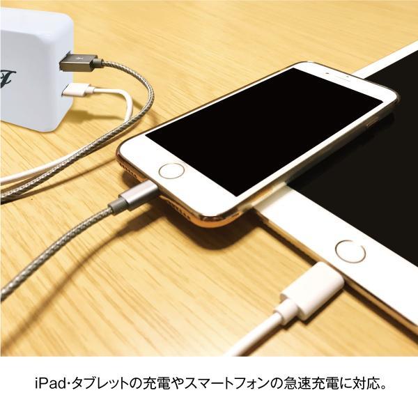 タイプC TypeC ACアダプター ケーブル USB コンセント 充電器 3A 4.8A ACアダプタ スマホ タブレット アンドロイド 急速充電 2ポート jiang-tpc01|gochumon|04