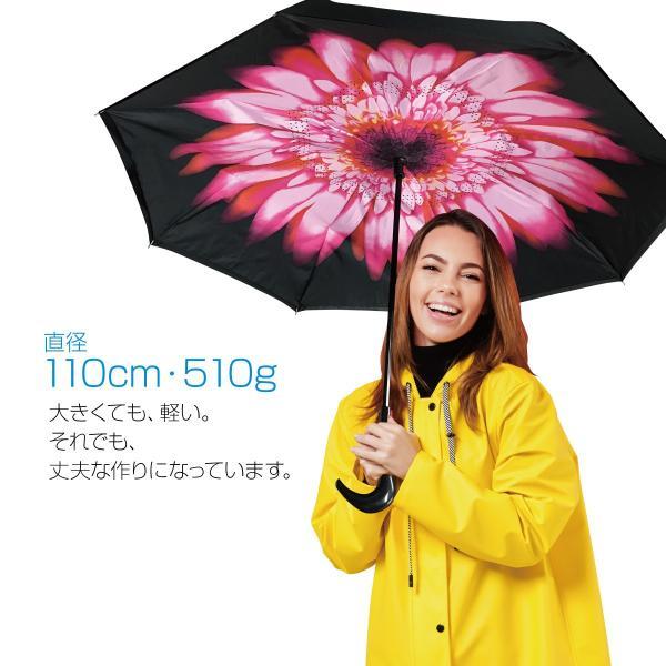 逆さま 傘 逆さ傘 さかさま傘 逆さま傘 ワンタッチ 日傘 UVカット kasa-02|gochumon|02