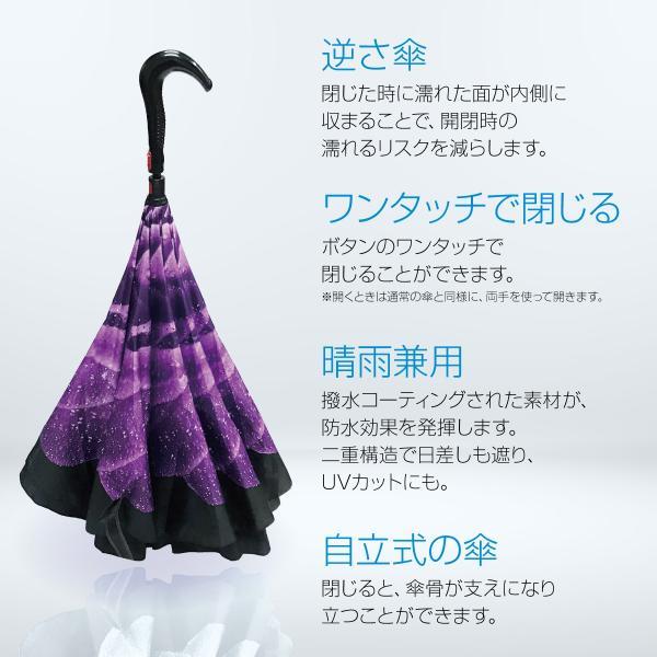 逆さま 傘 逆さ傘 さかさま傘 逆さま傘 ワンタッチ 日傘 UVカット kasa-02|gochumon|03