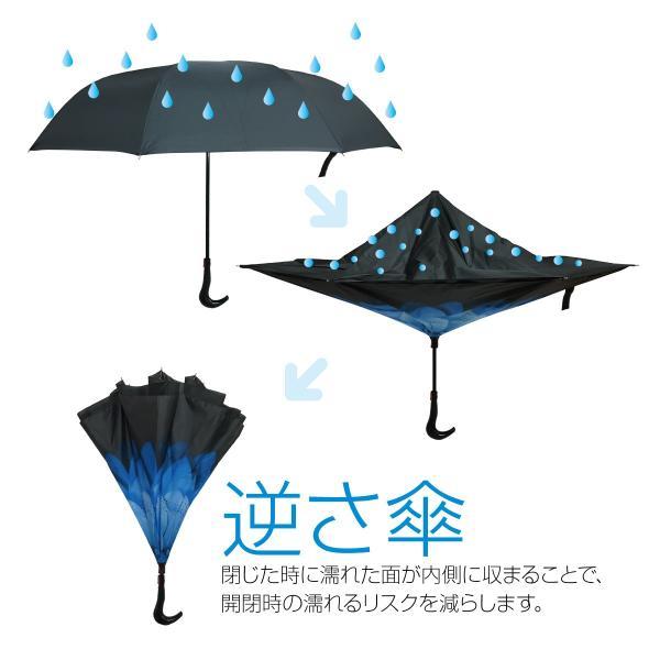 逆さま 傘 逆さ傘 さかさま傘 逆さま傘 ワンタッチ 日傘 UVカット kasa-02|gochumon|04