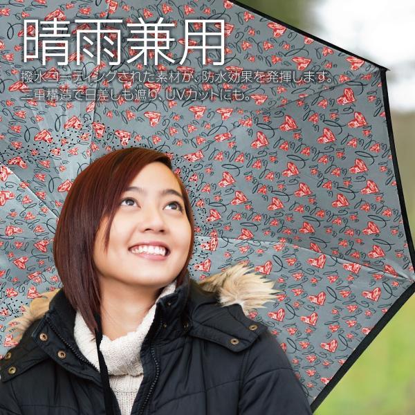 逆さま 傘 逆さ傘 さかさま傘 逆さま傘 ワンタッチ 日傘 UVカット kasa-02|gochumon|06