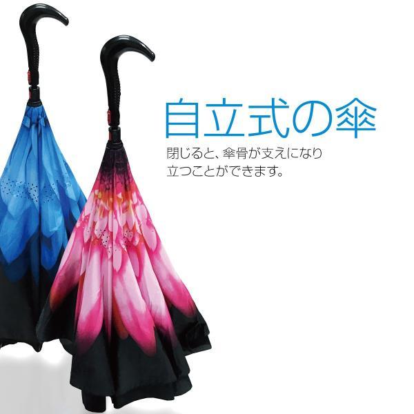 逆さま 傘 逆さ傘 さかさま傘 逆さま傘 ワンタッチ 日傘 UVカット kasa-02|gochumon|07