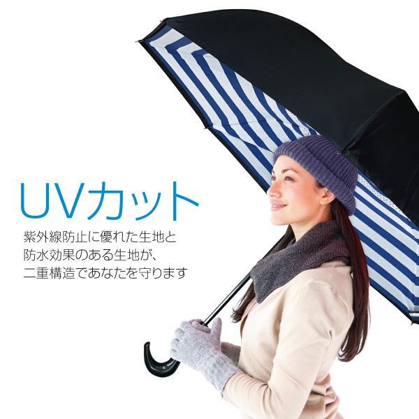 逆さま 傘 逆さ傘 さかさま傘 逆さま傘 ワンタッチ 日傘 UVカット kasa-02|gochumon|08