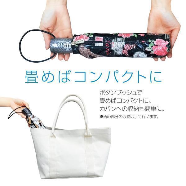 折りたたみ傘 レディース 自動開閉 かわいい 大きい 花柄 丈夫 ワンタッチ 折り畳み傘 kasa-03 gochumon 05
