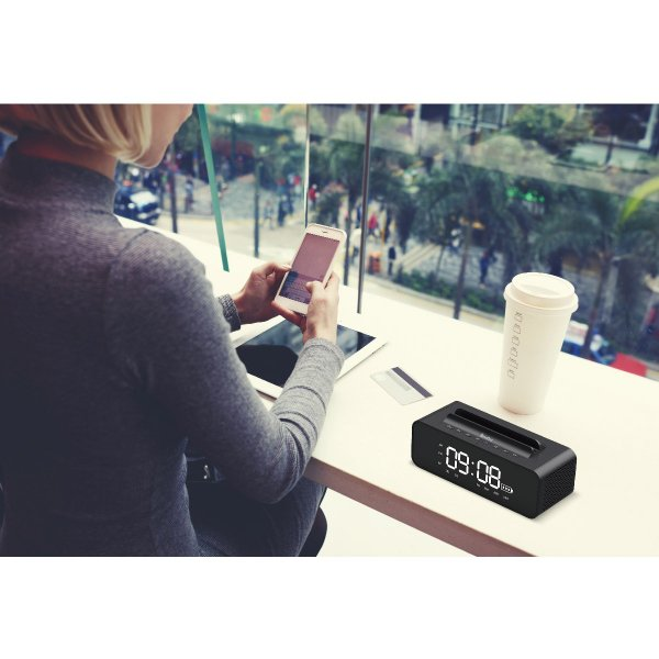 ワイヤレススピーカー Bluetooth スピーカー ワイヤレス 時計 スマートフォン おしゃれ 高音質 映画 ブルートゥース iPhone android 対応 oneder oneder-v06 gochumon 13