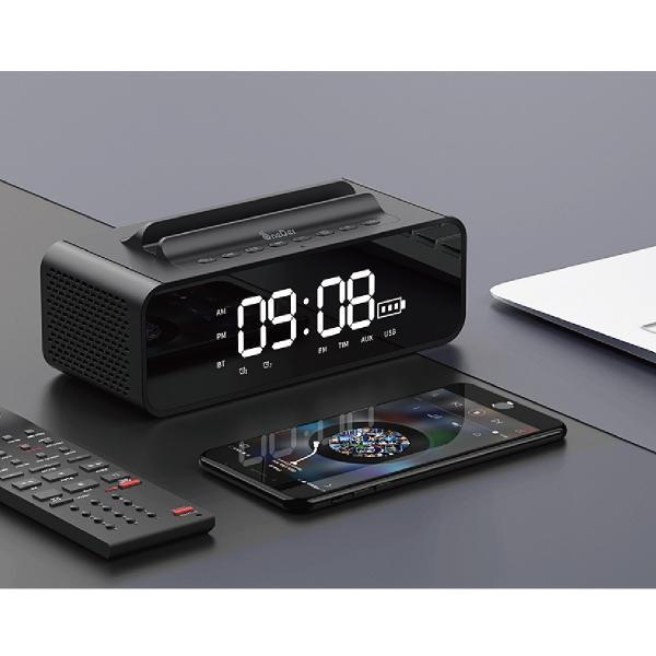 ワイヤレススピーカー Bluetooth スピーカー ワイヤレス 時計 スマートフォン おしゃれ 高音質 映画 ブルートゥース iPhone android 対応 oneder oneder-v06 gochumon 17