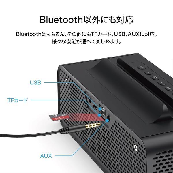 ワイヤレススピーカー Bluetooth スピーカー ワイヤレス 時計 スマートフォン おしゃれ 高音質 映画 ブルートゥース iPhone android 対応 oneder oneder-v06 gochumon 05