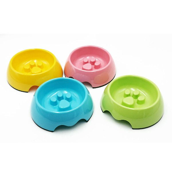 ペット フードボウル 早食い防止 犬 猫 食器 肉球 ペット用品 ペットフードボウル スベリ止め pet-b|gochumon|08