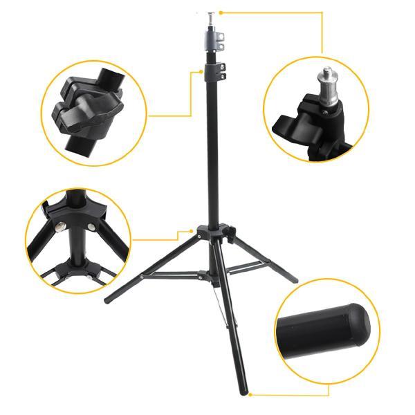 スマホライトスタンド LED ライトスタンド 動画 撮影 撮影ライト ライト 照明 ビデオ 自撮り 160cmスタンド TikTok YouTube r-light gochumon 16