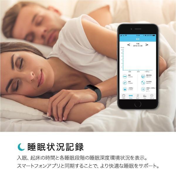 スマートウォッチ iphone 対応 android 対応 line 血圧 防水 日本語 血圧測定 心拍計 歩数計 IP67防水 スマートブレスレット レディース メンズ sb-y11|gochumon|12