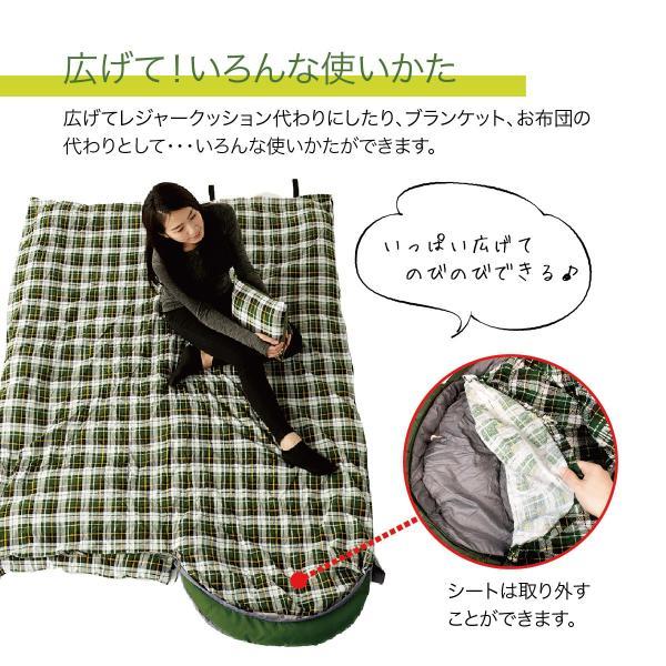 寝袋 洗える 手が出せる ねぶくろ 枕付き コンパクト キャンプ マット かわいい sleep-bag|gochumon|14