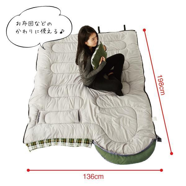 寝袋 洗える 手が出せる ねぶくろ 枕付き コンパクト キャンプ マット かわいい sleep-bag|gochumon|15