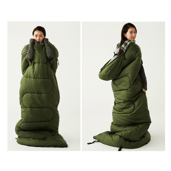 寝袋 洗える 手が出せる ねぶくろ 枕付き コンパクト キャンプ マット かわいい sleep-bag|gochumon|19