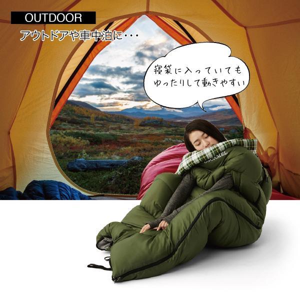 寝袋 洗える 手が出せる ねぶくろ 枕付き コンパクト キャンプ マット かわいい sleep-bag|gochumon|07