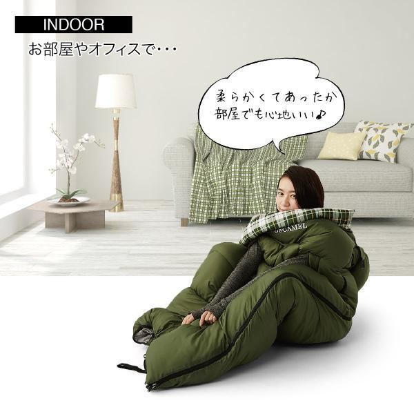 寝袋 洗える 手が出せる ねぶくろ 枕付き コンパクト キャンプ マット かわいい sleep-bag|gochumon|08