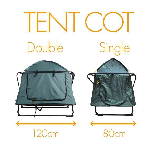 テント テントコット 2人用 折り畳み式 テントベッド ベッドシェルター コンパクトテントコット TENT COT 高床式 大型 海 キャンプ tent-cot-w|gochumon|20