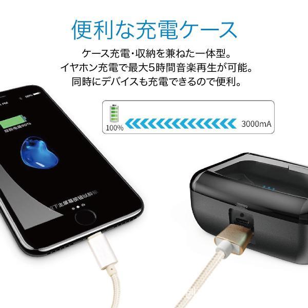 ワイヤレスイヤホン bluetooth5.0 両耳 スポーツ 防水 カナル型 イヤホン IPX8 両耳通話 片耳 ブルートゥース Siri対応 iphone android 対応 touch two-c3 gochumon 15