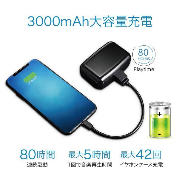 ワイヤレスイヤホン bluetooth5.0 両耳 スポーツ 防水 カナル型 イヤホン IPX8 両耳通話 片耳 ブルートゥース Siri対応 iphone android 対応 touch two-c3 gochumon 16