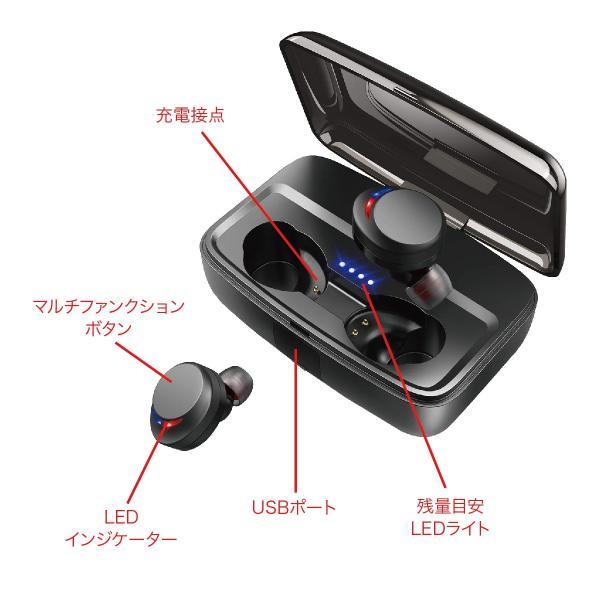 ワイヤレスイヤホン bluetooth5.0 両耳 スポーツ 防水 カナル型 イヤホン IPX8 両耳通話 片耳 ブルートゥース Siri対応 iphone android 対応 touch two-c3 gochumon 17