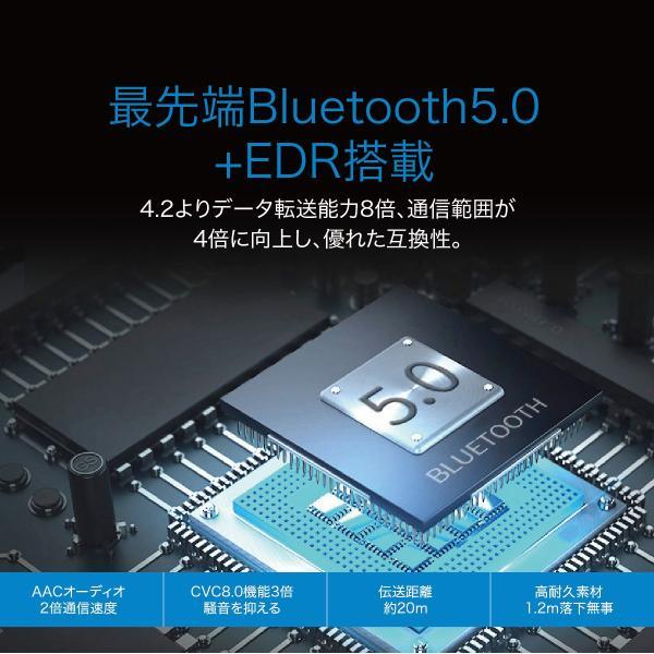 ワイヤレスイヤホン bluetooth5.0 両耳 スポーツ 防水 カナル型 イヤホン IPX8 両耳通話 片耳 ブルートゥース Siri対応 iphone android 対応 touch two-c3 gochumon 09