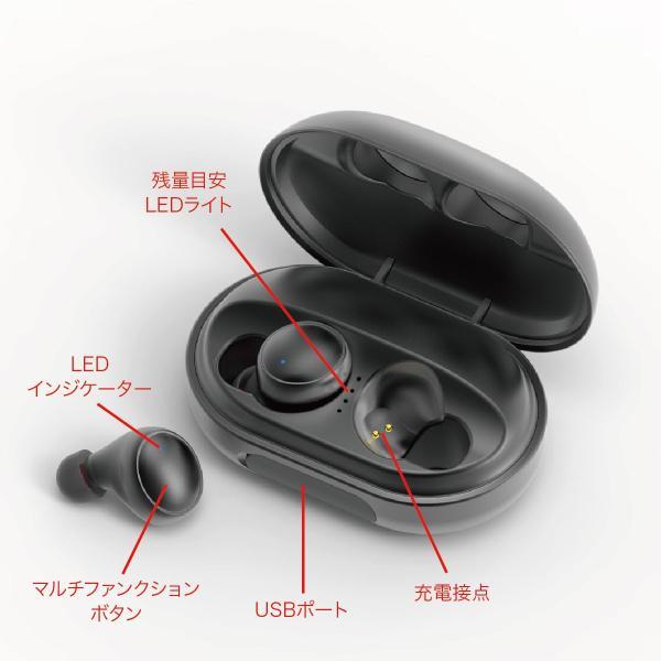 ワイヤレスイヤホン bluetooth5.0 両耳 スポーツ 防水 カナル型 イヤホン IPX8 両耳通話 片耳 ブルートゥース Siri対応 iphone android 対応 touch two-c5 gochumon 18