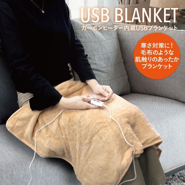 USBブランケット ブランケット usb ひざ掛け 暖房 電気ひざ掛け 電気毛布 毛布 電気ブランケット 洗える usb-blanket-cp|gochumon