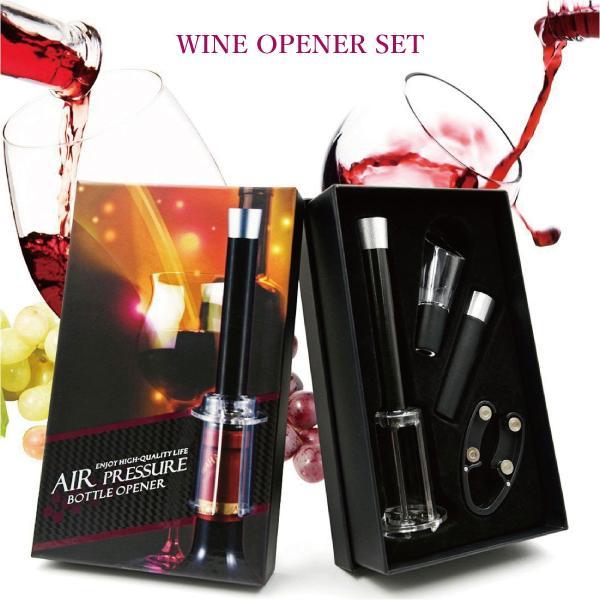 ワインオープナー ワインオープナー ワイン オープナー エアー 4点セット ワインオープナー ホイルカッター ポワラー ワインストッパー wine-opener02|gochumon|14