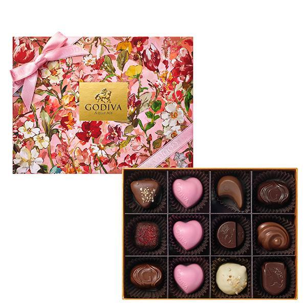 母の日プレゼントギフトお返しお祝いチョコレートスイーツゴディバ(GODIVA)花咲く春アソートメント(12粒入)