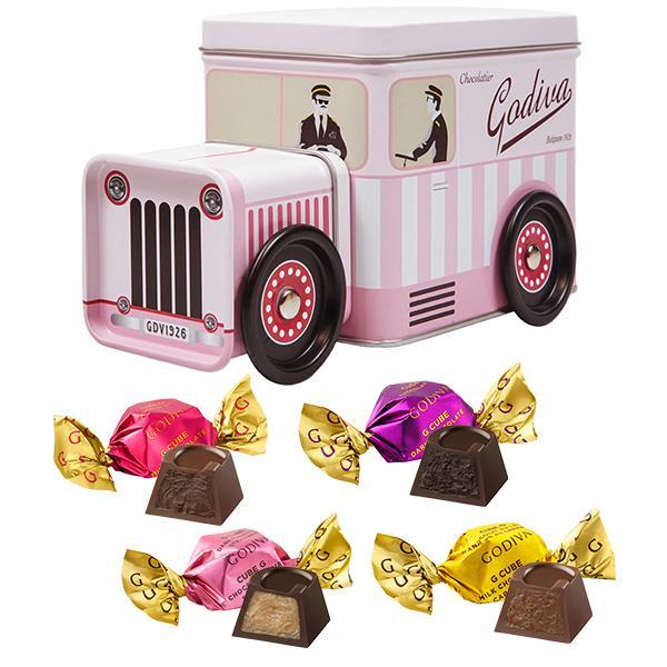 お中元 サマーギフト お返し お祝い チョコレート ピンクバン Gキューブアソートメント(15粒入)