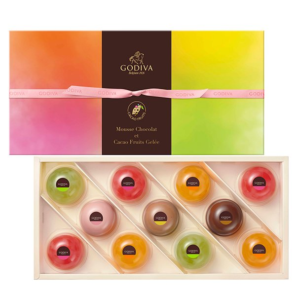 中元 プレゼント ギフト お返し お祝い チョコレート スイーツ ゴディバ(GODIVA)ムースショコラ エ カカオフルーツジュレ (11個入)
