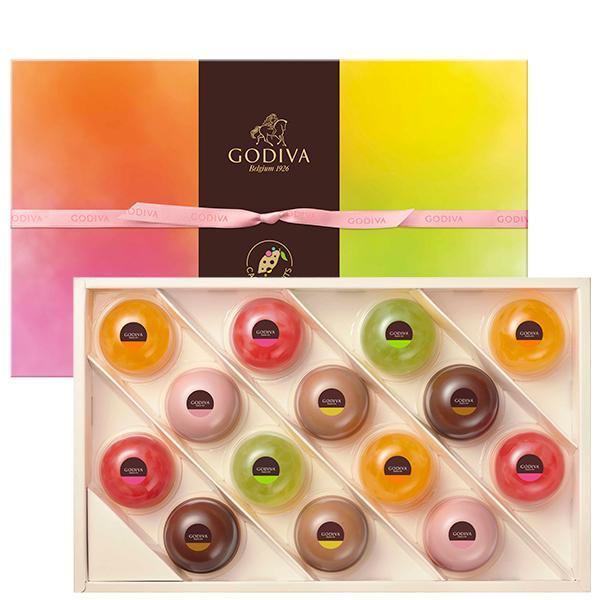 中元 プレゼント ギフト お返し お祝い チョコレート スイーツ ゴディバ(GODIVA)ムースショコラ エ カカオフルーツジュレ (14個入)