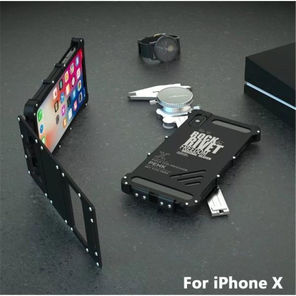 iPhone X ケース iPhoneXケース iPhoneX カバー スマホケース メタル アルミ かっこいい ロック シルバー ブラック メタルカラー 窓 窓付き 高級感 保護|goen-yahuu-ten|11