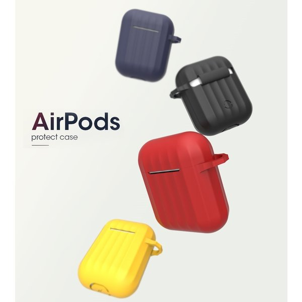 AirPods caseエアーポッズ 衝撃吸収 撥水 充電に影響なし Airpods/Airpods2対応 シリコン アクセサリー 紛失用ケーブル付き バックル カラビナ 落下防止