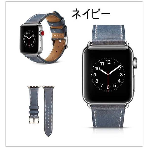 アップルウォッチ バンド apple watch series4 40mm 44mmseries3 series2 series1 42mm 38mm Apple Watch バンド レザー 高品質|goen-yahuu-ten|05