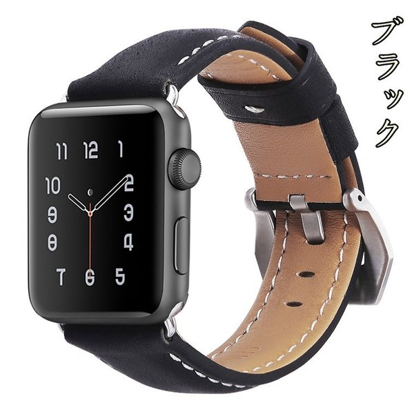 Apple Watch バンド 38mm 42mm アップルウォッチ ベルト 本革 iwatch ベルト 38mm 42mm バンド 交換用バンド|goen-yahuu-ten|03