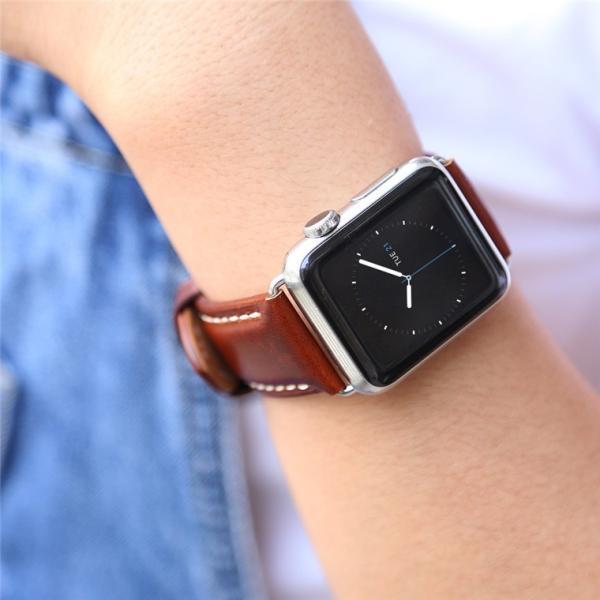 Apple Watch バンド 38mm 42mm アップルウォッチ ベルト 本革 iwatch ベルト 38mm 42mm バンド 交換用バンド|goen-yahuu-ten|06