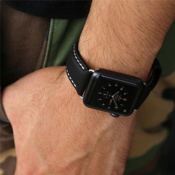 Apple Watch バンド 38mm 42mm アップルウォッチ ベルト 本革 iwatch ベルト 38mm 42mm バンド 交換用バンド|goen-yahuu-ten|07