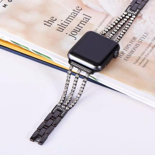 【エレガント&キラキラ】アップルウォッチ バンド 44mm 40mm 38mm 42mm 交換用ベルト Applewatch おしゃれ|goen-yahuu-ten|11