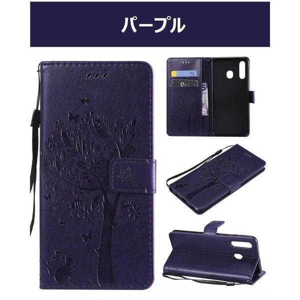 Galaxy A30ケース S10 Plus ケース S10e 手帳型 s10 + カバー 花柄 手帳型 スマホケース  型押し 猫 PUレザー s10 プラス 耐衝撃 オシャレ PUレザー  スタンド|goen-yahuu-ten|11