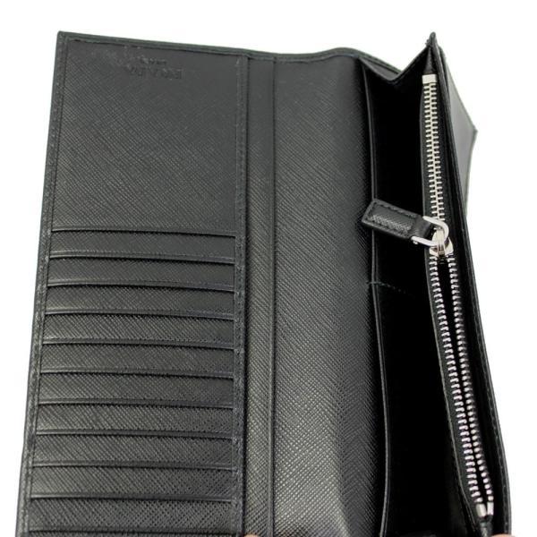 プラダ 二つ折り長財布 メンズ 型押しレザー ブラック NERO 2MV836 PN9 F0002 新品