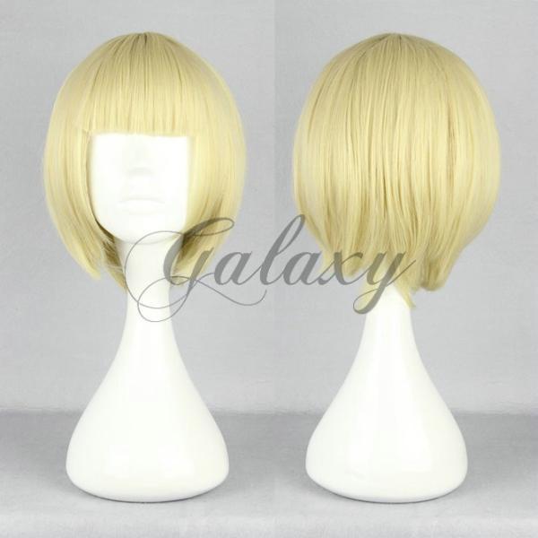 原宿ガール ボボヘアー ロリータ ゴールド ショート コスプレウィッグ  wig-392a(wig-392a)