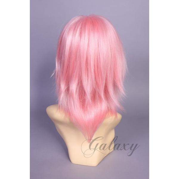 ウィッグ ストレート ショート ピンク ピンク系 耐熱 フルウィッグ wig 【あすつく対応】 y05s-25s