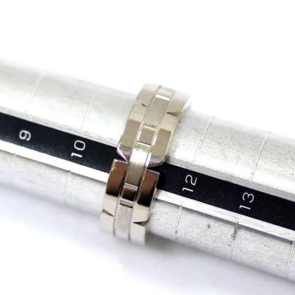 新品仕上げ済み カルティエ タンク フランセーヌ リング・指輪 ユニセックス K18ホワイトゴールド ジュエリー 11号 ホワイトゴールド 中古 送料無料 CARTIER