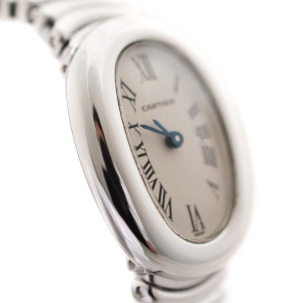 カルティエ ミニベニュワール 金無垢 腕時計 レディース クオーツ アイボリー文字盤 W15189L2 中古 送料無料 CARTIER